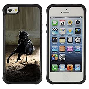 SHIMIN CAO@ Mustang Horse Black Wild Stallion Gallop Rugged Hybrid Armor Slim Protection Case Cover Shell For iphone 5S CASE Cover ,iphone 5 5S case,iphone5S plus cover ,Cases for iphone 5 5S