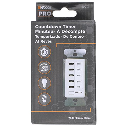 Woods 59013WD In-Wall 8-Hour Digital Countdown Timer (White) by Woods (Image #1)