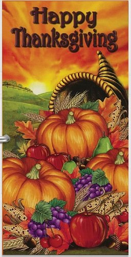 Thanksgiving Harvest Door Cover 2pc. Decoration Kit 1/Pkg Pkg/1