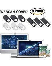 AJOXEL Cubierta Webcam (9 Unidades), Webcam Cover Slider 0.027in Ultra Fino Tapa Webcam para Macbook Pro, Cámara,Laptop, Mac, Portátil,PC, iPad, Surfcase Pro, Tablet,iPhone