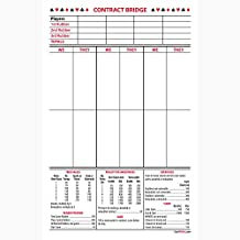 Contract Bridge Score Pads, large size