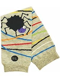 BabyLegs Jumping Spider Leg Warmers, Grey/Black, One Size (Lightweight Mesh)