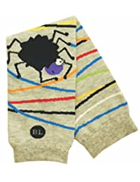 BabyLegs Jumping Spider Leg Warmers, Grey/Black, One Size (Lightweight Mesh)