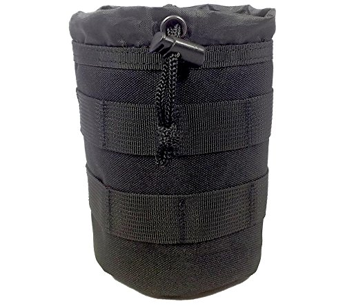 Tactical Baby Gear Bottle Pouch 2 0 Thermal Insulated Molle Drawstring Open Top  Black