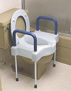 Amazon Com Medline Mds80326 Riser Toilet Seat Padded 4