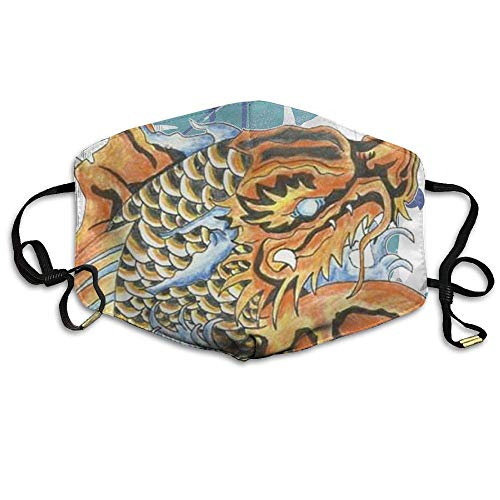 Girdsunp Classic Koi Dragon Tattoo Design Mask Men Women Mask Unisex Dirtproof Breathable Cool Mask ()