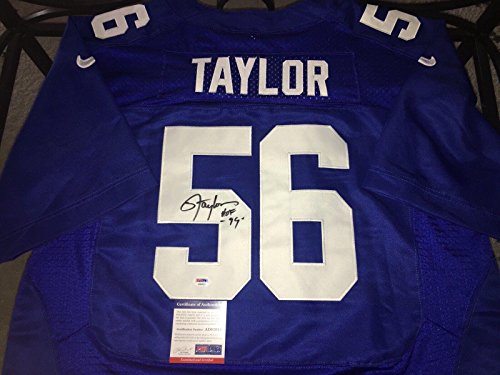 (Lawrence Taylor Autographed Jersey - Hall Of Fame 99 - PSA/DNA Certified - Autographed NFL Jerseys)