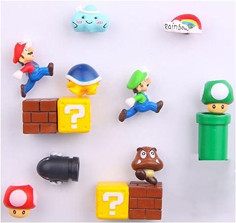 Fun Set Of 5 Different Silicone Super Mario Brothers  Decorative MINI Magnets