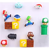 14 Pack Mario Fridge Magnets for Kids Decorative Refrigerator Locker Magnets Kitchen School Office Fun Decoration