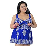YouYee Women's Plus Size Swimwear Two Pieces with Shorts slimming Swimsuit