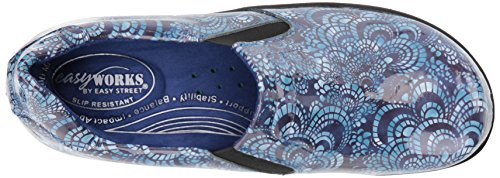 Easy Works Women's Bind Health Care Professional Shoe, Blue Mosaic Pa, 7.5 W US by Easy Works (Image #8)