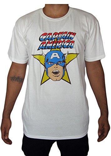 Marvel+Comics+Retro+Shirt Products : Marvel Comics Captain America Mens Retro Graphic Shirt