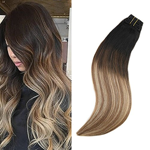 Ugeat 20inch Thick Full Head Clip in Extensions 100 Human Ha