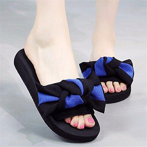 frío mano de playa FLYRCX b moda casual Señoras zapatillas antideslizante verano de de exterior zapatillas OqtUwp