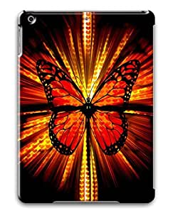 IMARTCASE Apple iPad Air Case, Orange Butterfly Graphic PC Hard Plastic Case for Apple iPad Air by lolosakes by lolosakes