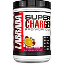 Labrada Nutrition Super Charge Pre-Workout Advanced Pump and Endurance Formula, Raspberry Lemonade, 675 Gram
