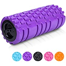 """Longans Foam Rollers Rumble with EXTRA Massager Ball & Trigger Point Roll For Deep Tissue Muscle Massage & Myofascial Release, Aching Back and Leg 13""""x5"""" - for Yoga"""