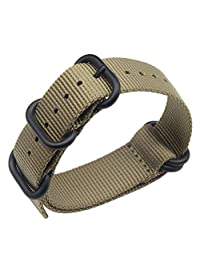 20mm Khaki Luxury Exquisite Men's one-piece NATO style Nylon Perlon Watch Bands Straps Textile