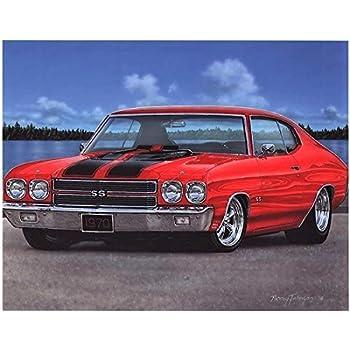 Amazon com: 1970 SS-454 Chevelle Art Print: Chevrolet Chevelle