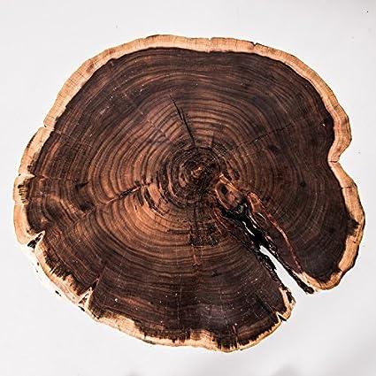 Live Edge Wood Slice Coffee Table Or Side Table   Black Acacia