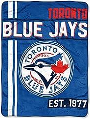 Northwest MLB Toronto Blue Jays Micro Raschel Throw, One Size, Multicolor