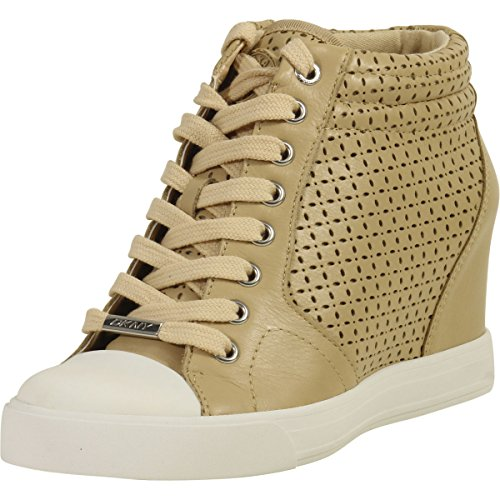 DKNY Donna Karan Women's Cindy Buff Fashion Wedge Sneakers Shoes Sz: 9.5