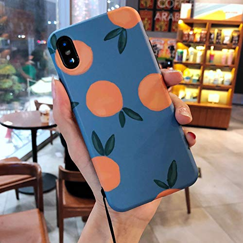 Latest Ins Retro Orange AppleXs max Mobile Phone Shell 7p Tide Brand 6plus Small Fresh for iPhone8 Female XR,Orange,for iPhone XR orange iphone xr case 6