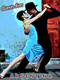 Tango in Buenos Aires Argentina South America Travel Advertisement Poster