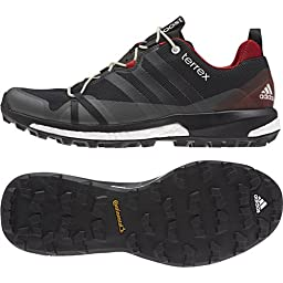 adidas Outdoor Men\'s Terrex Agravic Dark Grey/Black/Power Red Sneaker 9 D (M)