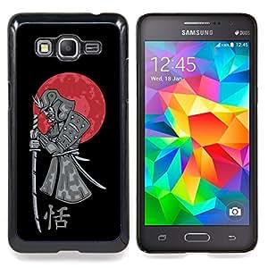"""Qstar Arte & diseño plástico duro Fundas Cover Cubre Hard Case Cover para Samsung Galaxy Grand Prime SM-G530F G530FZ G530Y G530H G530FZ/DS (Guerrero japonés del samurai y Luna de Sangre"""")"""
