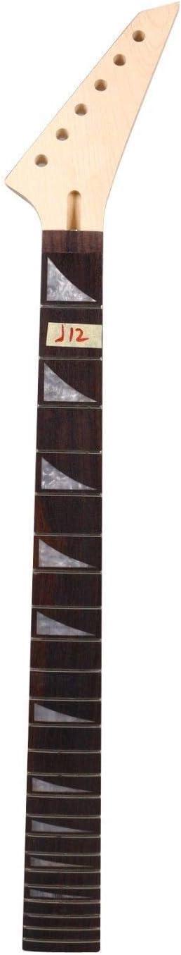 Yinfente Manche de rechange pour guitare /électrique 24 frettes 25,4 cm en /érable palissandre maple-rosewood
