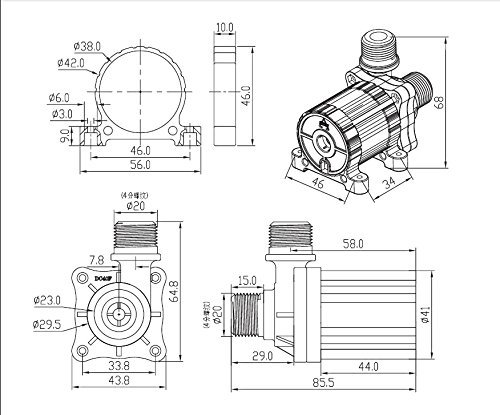 12v Submersible Water Pump 206 GPH Brushless Fountain Water Pump by Mavel Star by Mavel Star (Image #5)
