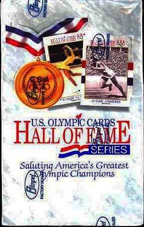 U.S. Olympics Hall of Fame Trading Cards (1991 Impel Unopened Box of 36 packs)