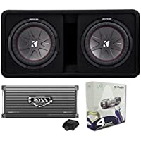 Kicker 43DCWR122 12 2000W Car Subwoofers Subs + Box+4000 Watt Mono Amp + Wiring
