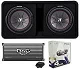 Kicker 43DCWR122 12'' 2000W Car Subwoofers Subs + Box+4000 Watt Mono Amp + Wiring