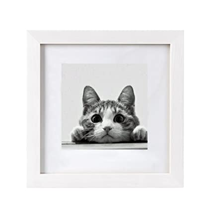 Amazon.com: BOJIN 10x10 Picture Frames Matted to 6x6 Photo Poster ...