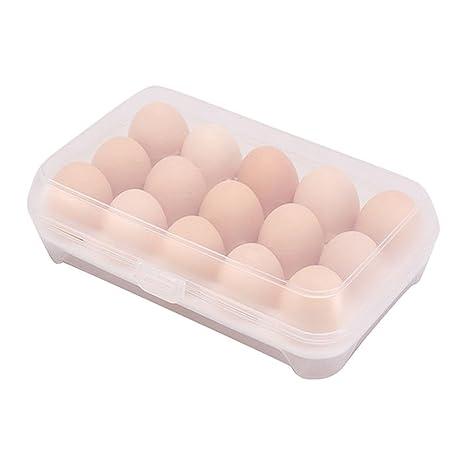 NUANNUAN Contenedor para huevos Bandeja de Almacenamiento ...