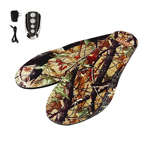 ORORO Rechargeable Trim to Fit Camo Heated Insole (Camo,Women(4-9;35-40))