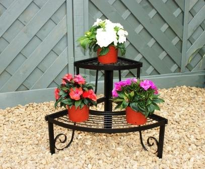 GAP Garden Products 2 Tier Corner Pot Stand