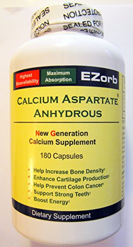 Ezorb Calcium 180 Capsules for Bone, Joint, Muscle (Aspartate 180 Capsules)