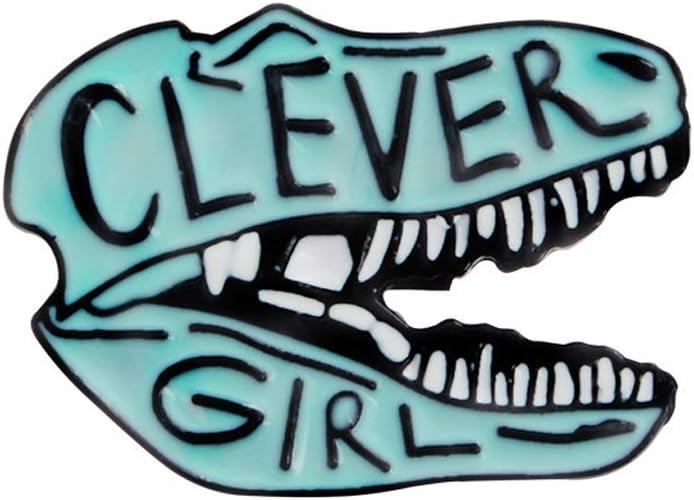 Xuniu Mignon Dessin Anim/é Dinosaure Crocodile Jurassic Park Clever Girl Broche Denim Coat Pin
