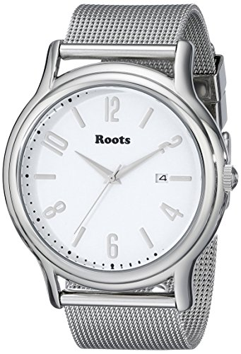 roots-womens-1r-pr201wh0-cache-analog-display-japanese-quartz-silver-watch