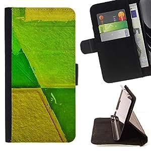 For Sony Xperia Z5 Compact Z5 Mini (Not for Normal Z5) Case , Agricultura Agricultura Extracto amarillo verde- la tarjeta de Crédito Slots PU Funda de cuero Monedero caso cubierta de piel