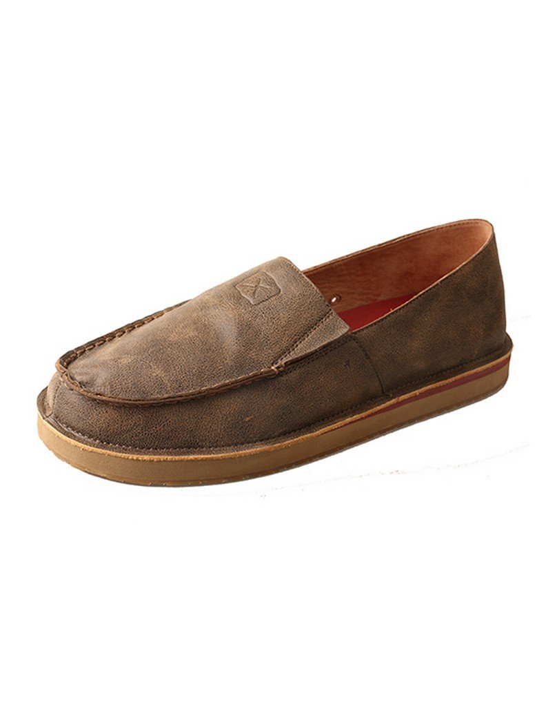 Twisted X Boots Mens Bomber Loafers 10 D(M) US|Brown