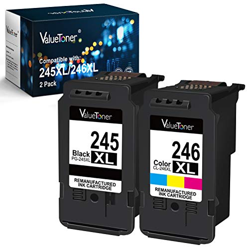 Valuetoner Remanufactured Ink Cartridge Replacement for Canon PG-245XL CL-246XL PG-243 CL-244 to use with Pixma MX492 MX490 MG2420 MG2520 MG2522 MG2920 MG2922 MG3022 MG3029 (2-Pack,Value Edition)