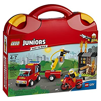 LEGO Juniors Fire Patrol Suitcase 10740 Toy for 4-7-Year-Olds: Toys & Games
