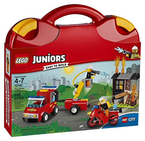 Lego Fire Truck Instructions - LEGO Juniors Fire Patrol Suitcase 10740 Toy 4-7-Year-Olds