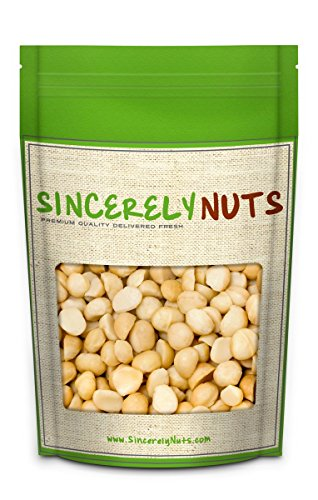 Sincerely Nuts Raw Macadamia Nuts Unsalted - Two (2) Lb. Bag – Uncompromised Natural Taste - Amazingly Nutritious - Freshly Sealed, Kosher