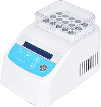 AMONIDA Mini Caja Laboratorio de Temperatura Constante Baño de Metal Mini baño seco Mini Laboratorio Bloque de Calor Baño seco Accesorios de Herramientas de Laboratorio para Laboratorio(UE 100-240 V): Amazon.es: Electrónica