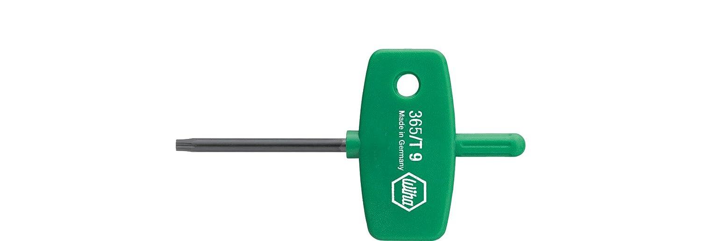 T8 x 40 mm Wiha Stiftschl/üssel mit Schl/üsselgriff TORX/® br/üniert 01352